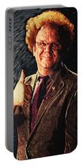 Portable Battery Charger featuring the digital art Dr. Steve Brule by Taylan Apukovska