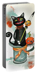 Dracula Vintage Cat Portable Battery Charger