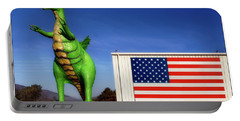 Dragon And American Flag Portable Battery Charger
