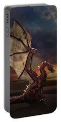 Dragon At Sunset Portable Battery Charger
