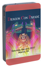 Portable Battery Charger featuring the digital art Dragon Con Parade by Megan Dirsa-DuBois