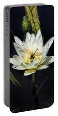 Dragon Fly On Lily Portable Battery Charger