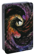 Portable Battery Charger featuring the painting Dragon Galaxy by Stanley Morrison