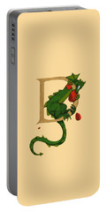 Portable Battery Charger featuring the digital art Dragon Letter D 2016 by Donna Huntriss
