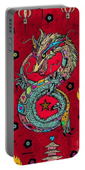 Dragon Popart By Nico Bielow Portable Battery Charger