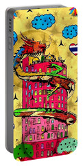 Dragon Tower Popart By Nico Bielow Portable Battery Charger by Nico Bielow