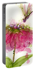 Dragonfly And Zinnia Portable Battery Charger