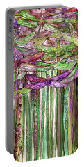 Dragonfly Bloomies 2 - Pink Portable Battery Charger by Carol Cavalaris