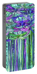 Dragonfly Bloomies 2 - Purple Portable Battery Charger by Carol Cavalaris