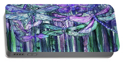 Dragonfly Bloomies 3 - Lavender Teal Portable Battery Charger
