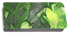 Dragonfly In Green Repose Portable Battery Charger