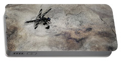 Dragonfly Landed On The Rock Portable Battery Charger