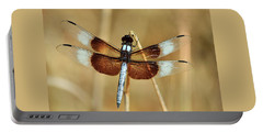 Portable Battery Charger featuring the photograph Dragonfly On Reed by Sheila Brown