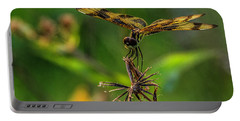 Dragonfly Resting On Flower Portable Battery Charger