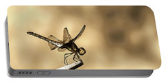 Dragonfly Resting On The Clothesline Portable Battery Charger