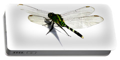 Portable Battery Charger featuring the painting Dragonfly by Tbone Oliver