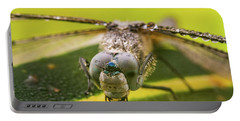 Portable Battery Charger featuring the photograph Dragonfly Wiping Its Eyes by William Lee