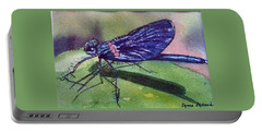 Dragonfly With Shadow Portable Battery Charger