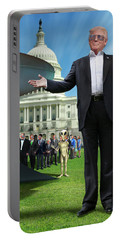 Portable Battery Charger featuring the digital art Draining The Swamp With Help From Above by Mike McGlothlen