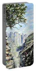 Portable Battery Charger featuring the painting Drakensberg by Heidi Kriel