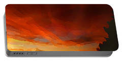 Drama At Sunrise Portable Battery Charger