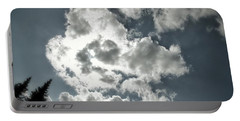 Drama In The Sky Portable Battery Charger by Karen Stahlros