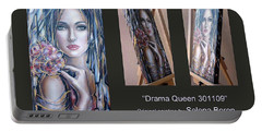 Portable Battery Charger featuring the painting Drama Queen 301109 by Selena Boron