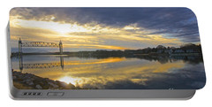 Portable Battery Charger featuring the photograph Dramatic Cape Cod Canal Sunrise by Amazing Jules
