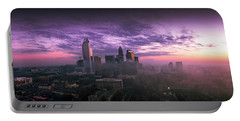 Dramatic Charlotte Sunrise Portable Battery Charger