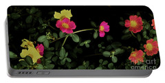 Dramatic Colorful Flowers Portable Battery Charger