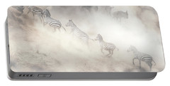 Dramatic Dusty Great Migration In Kenya Portable Battery Charger