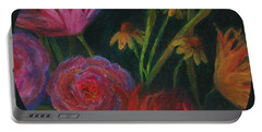 Dramatic Floral Still Life Painting Portable Battery Charger