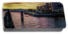 Dramatic Hudson River Sunset Portable Battery Charger