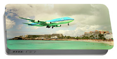 Dramatic Landing At St Maarten Portable Battery Charger