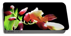 Dramatic Oriental Orchid Portable Battery Charger