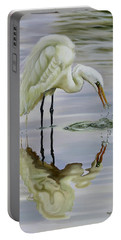 Portable Battery Charger featuring the painting Dramatic Reflections by Phyllis Beiser