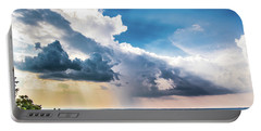 Portable Battery Charger featuring the photograph Dramatic Sunrays Over The Valley by Shelby Young