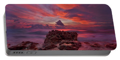 Dramatic Sunrise Over Coral Cove Beach In Jupiter Florida Portable Battery Charger
