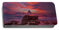 Dramatic Sunrise Over Coral Cove Beach In Jupiter Florida Portable Battery Charger by Justin Kelefas