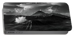 Portable Battery Charger featuring the photograph Dramatic View Of Mount Bromo by Pradeep Raja Prints