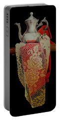 Draped Tea Service  Portable Battery Charger