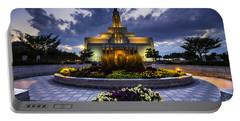 Draper Mormon Lds Temple - Utah Portable Battery Charger