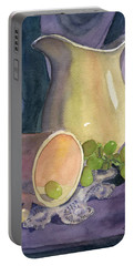 Drapes And Grapes Portable Battery Charger