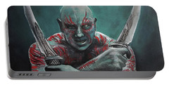 Drax The Destroyer Portable Battery Charger by Tom Carlton