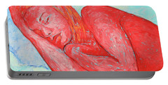 Portable Battery Charger featuring the painting Dream Big   by Xueling Zou