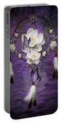 Dream Catcher Purple Flowers Portable Battery Charger