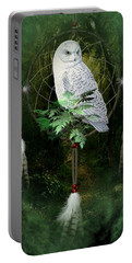Dream Catcher White Owl Portable Battery Charger