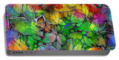Portable Battery Charger featuring the digital art Dream Colored Leaves by Klara Acel