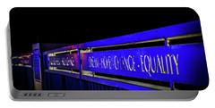 Dream-hope-change-equality Martin Lurther Kin Bridge - Fort Wayne Indiana Portable Battery Charger