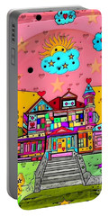 Dream House Popart By Nico Bielow  Portable Battery Charger by Nico Bielow